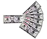 GoodOffer 5 Dollars Play Money – Realistic Prop Money 100 pcs. – Total of $500 Copy Money with Two Sides for Pranks, Games, Monopoly – Educational Play Money for Kids – Prop Five Dollar Bills