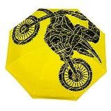 Parapluie Pliable pour Moto, Saut croisé, Motocross, Motocross Flyi, Parapluie Ouvert et Coupe-Vent léger et Compact pour extérieur, parasols Soleil et Pluie