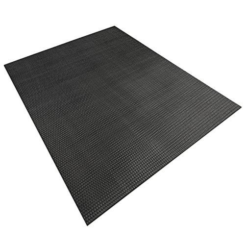 casa pura Design Bodenschutzmatte Padua   Unterlegmatte für Fitnessgeräte   zuverlässiger Bodenschutz   60x120cm