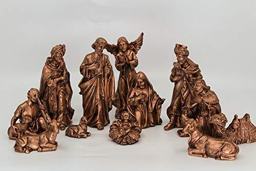 Presépio completo com 12 Peças - Resina - Pintura Bronze