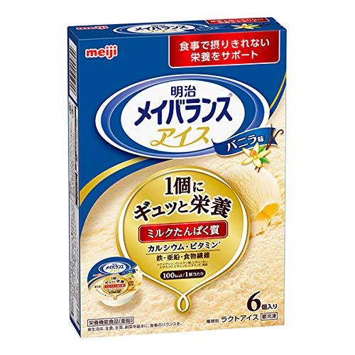【冷凍栄養強化食】明治メイバランスアイスバニラ味80ml×6個アイスクリーム
