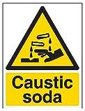 vsafety 6a030an-r'Sosa cáustica' ADVERTENCIA sustancia y químicos señal,...