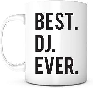KELLEN WHITEHEAD Best DJ Ever-DJ Mug DJ GiftsDJ Present Taza De Café De Cerámica De 11 Oz Gran, Regalo De Oficina,Trabajo,Amigo,Jefe Y Maestro