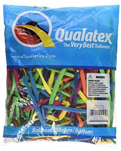 Qualatex 45195 260QTROPICAL AST 100CT Ballons à modeler ou à torsion