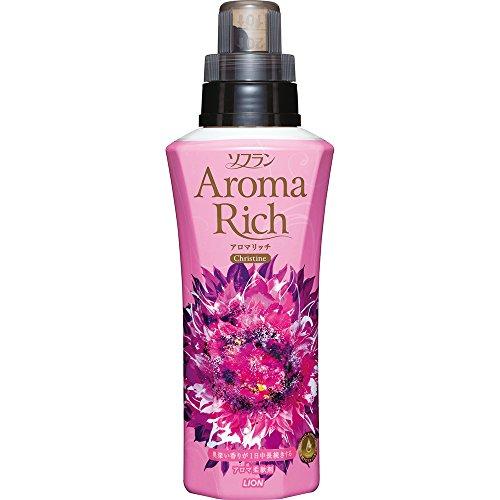 ソフラン アロマリッチ 柔軟剤 クリスティーヌ (スイートフルーティーアロマの香り)  本体 600ml