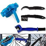 Limpiador de Cadena de Bicicleta, Limpiador Cadena, Kit de Cepillo de Limpieza de Bicicletas, 4 Cepillos de Limpieza de Cadena, Aptos para la Limpieza Rápida y Profunda de Todo Tipo de Bicicletas (4)