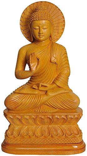 Exotic India Buddha-Statue aus Messing, Mehrfarbig, 15,2 x 26,7 x 45,7 cm