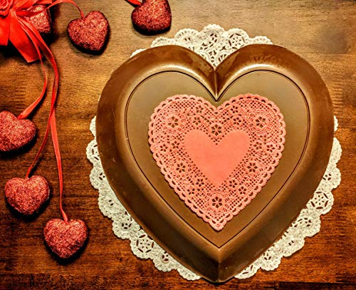 Lang's Chocolates Solid 3lb Milk Chocolate Heart. Measures 12 inches across