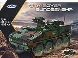 BlueBrixx 06043 Marke Xingbao – GTK Boxer, Bundeswehr aus Klemmbausteinen mit 808 Bauelementen. Kompatibel mit Lego. Lieferung in Originalverpackung.