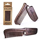 Beard & Bates   The Sandalwood Switchblade - The Original Folding Wooden Beard Hair Comb   Boutique, Artisan Crafted, Los Angeles