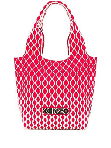 Luxury Fashion   Kenzo Woman FA52SA521F0321 Red Cotton Tote   Spring Summer 20