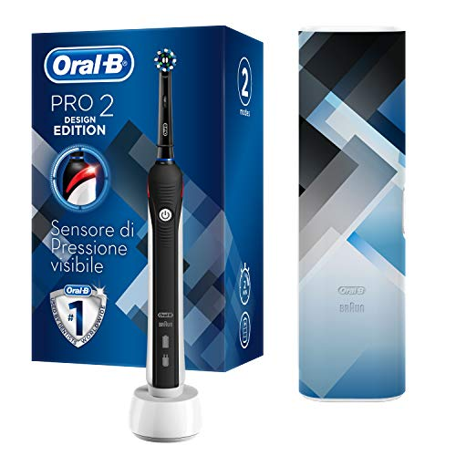 Oral-B Pro 2 2500 Design Edition - Cepillo eléctrico recargable, 2 modos...