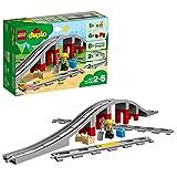 LEGO DUPLO Town Ponte e Binari Ferroviari, Set di Costruzioni con Mattoncino Sonoro, 10872