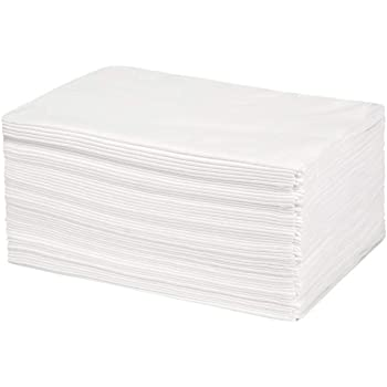 """Eco Salon & Spa Towels, Disposable Biodegradable Bamboo Fiber, 50 Count Large 30""""x15"""" (white)"""