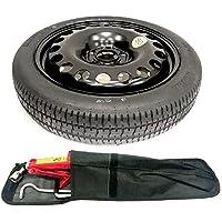 Rueda de repuesto para coche de 43 cm para ahorrar espacio y kit de herramientas