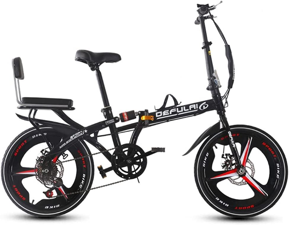 Mail order Foldable Bicycle Folding 7-Speed Sales for sale 20-inch B Adult