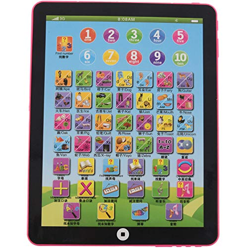 ACAMPTAR Children's Baby Tablet Pad Computer Educational Toys Toy Letters Gift , Pink