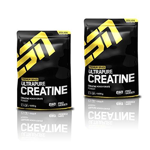 ESN Ultrapure Creatine Monohydrate, 1000g Pack (2 X 500g)