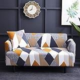 WXQY Fundas geométricas elásticas Fundas de sofá elásticas protección para Mascotas Funda de sofá Esquina en Forma de L Funda de sofá Antideslizante A24 4 plazas