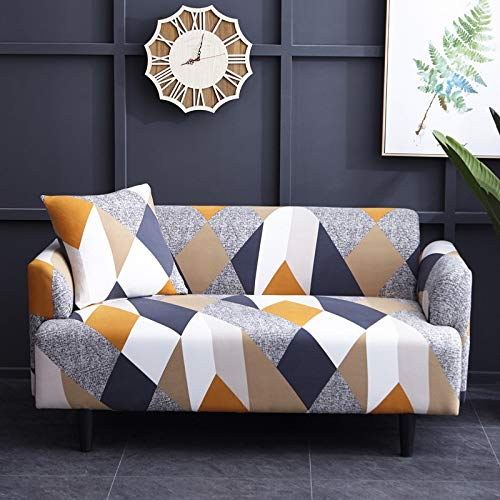 WXQY Funda de sofá con patrón geométrico Funda de sofá elástica Funda de sofá de Sala de Estar en Forma de L sofá de Esquina Toalla sillón Funda de sofá A29 2 plazas