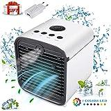 condizionatore portatile Air Cooler-Purificatore d' ari -blu LED Dell'aria Umidificatore Ventilatore ad Aria Condizionata per Casa/Ufficio (bianco)