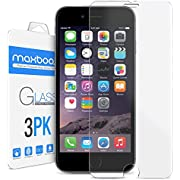 iPhone 6 Plus Screen Protector, Maxboost [Tempered Glass] 0.2mm Ballistic Glass Screen Protector Work with iPhone 6 Plus and Protective Case
