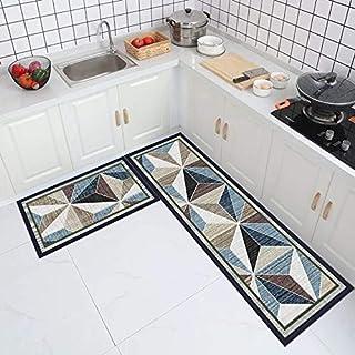 Enkla köksgolvmattor, nordisk stil hem badrum halkfria absorberande mattor, vardagsrum sovrum dörrmattor NO.1 50 x 80 cm &...