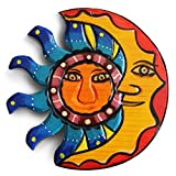 Sun And Moon Wall Decor, Outdoor Wall Decor, Mexican Decor, Patio Wall Decorations, Mexican Wall Art, Outdoor Wall Art, Mexican Wall Decor, Summer Wall Decor, Mexican Art Wall Decor, Moon Decor 8.25in