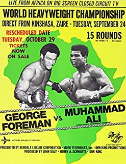 Poly Posters #34 2' x 3' Pop Art Abstract Print Boxing Rumble in The Jungle George Foreman VS Muhammad ALI Banner Fight Night Championship
