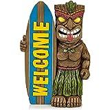 WSTERAO Lámpara de jardín, Tabla de Surf de Bienvenida, tótem de Copa de Vino Hawaiano Solar, decoración de jardín, decoración LED para Exteriores, luz de jardín