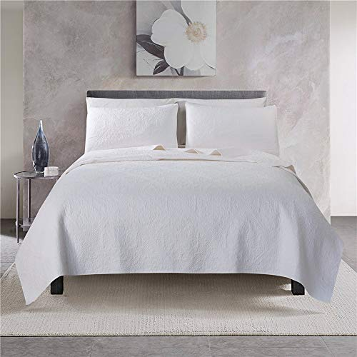 ARTO Mosto 100% Cotton Quilted and Prewashed 3PC Oversized All-Season Luxury Quilt Set/Coverlet Set/Bedspread Set-Full/Queen 92x96/20x26