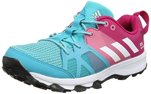 Adidas Unisex-Kinder Kanadia 8 K Laufschuhe, Mehrfarbig (Pink/Blue), 36 2/3EU