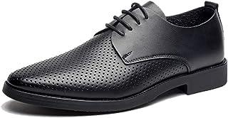 [ブウケ] サンダル メンズ カジュアルシューズ 滑り止め 通勤 ホロウ ビジネスシューズ メンズ メッシュシューズ 革靴 24.5cm 25cm 25.0cm 25.5cm 26cm 26.0cm 黒