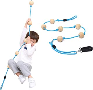 YKB Kids Climbing Rope Tree Swing with Wooden Balls,Playground Swing Set Accessories Outdoor for Kids,Trees House Swing Ou...