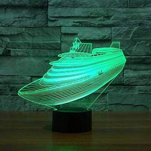 3D USB Tafellamp Kleuren Verander Sfeer Led Boot Nachtlampje Baby Slaap Verlichting Slaapkamer Decor Giftsnight Lampkinderen S Kamer