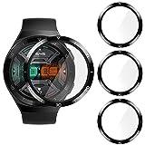 CAVN Pellicola Protettiva Compatibile con Huawei Watch GT 2e Pellicola [3-Pezzi], Impermeabile Antisfondamento con Protezione Dello Schermo in Vetro Temperato Antiriflesso per GT 2e