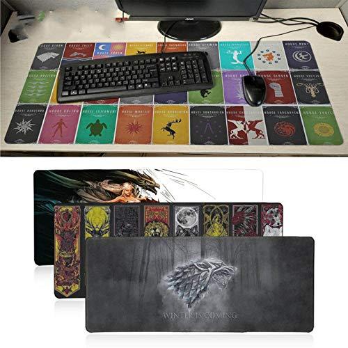 Game of Thrones Case antiscivolo in gomma Gaming Mouse pad XXL Velocità Tastiera Mouse Mat30x70cm Laptop PC Notebook Desk pad Serratura Ed 30X70cm