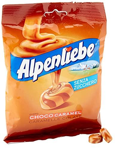 Alpenliebe Caramelle Colate Gusto Choco-Caramel, senza Zucchero e senza Glutine, 80g