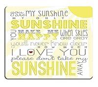 ゲーミングマウスパッドカスタム、You are My Sunshineカスタマイズされた長方形ノンスリップラバーマウスパッドゲーミングマウスパッド(24cm x 20cm x 3cm)
