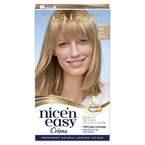 Clairol Nice n Easy Crème Permanent Hair Dye, 9A Light Ash Blonde