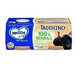Mellin Omogeneizzato Tacchino mit Fleisch und Reismehl homogenisiert Truthahn Babynahrung ab 4 Monaten 2x80g