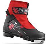 Alpina Sports Youth TJ Touring Ski Boots With Strap & Zippered Lace Cover, Black/Red, Euro 38