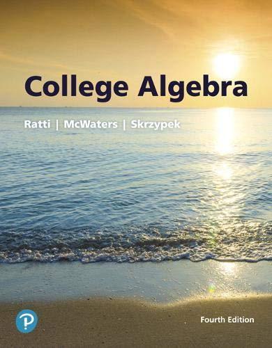 College Algebra, 4th Edition Front Cover