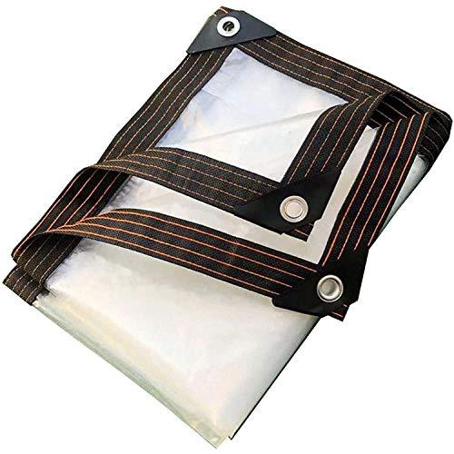 ADELALILI Lonas Tarps Clear Tramporte Impermeable Transparente Cubierta Lona Aire Libre Patio Cortina PantaSol (Tamaño : 2x6m/6.5x19.7ft)