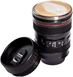 Camera Lens Coffee Mug, Best Photographer Gift, Ideal for Travel, Authentic Replica of the Canon 24-105mm Lens (Lock cover)