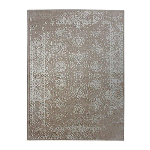 havatex Moderner Teppich Vintage Blossom - Moderne Farbkombinationen mit Anthrazit, Blau und Beige  ...
