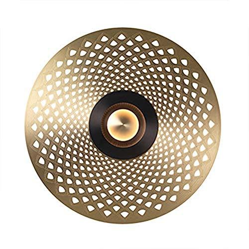 Dongbin Modern Innen Wandleuchte Aus Metall Runde Wandleuchten Edelstahl Art Deco Wandlampe Wandbeleuchtung für Büro, Schlafzimmer, Wohnzimmer, Arbeitszimmer, Kindergarten,E