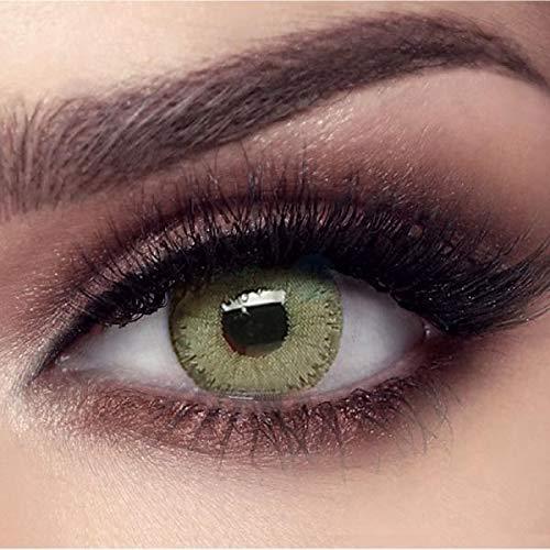 """Bella - Natürliche farbige Monatslinsen (stark deckend) ohne Stärke in Farbe """"ELITE Emerald Green"""