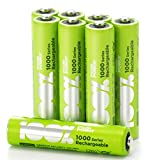 8 x AAA Rechargeable batteries 800 mAh 100% PeakPower NiMH Battery NEWLY released