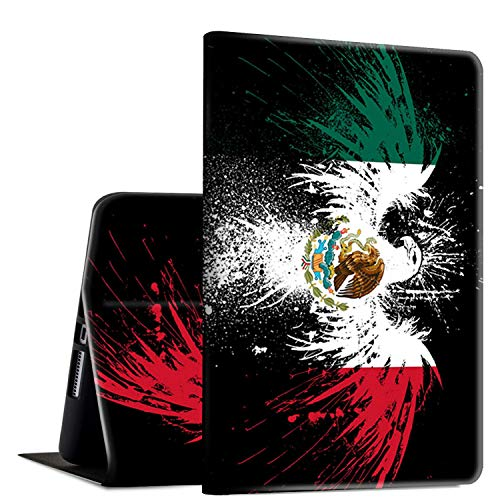 iPad Pro 10.5 2017/Air 3rd Gen 2019 Case, Rossy PU Leather Folio Smart Cover TPU Shock Case with Adjustable Stand & Auto Wake/Sleep Feature for Apple iPad Air 3rd Gen,Mexico Flag